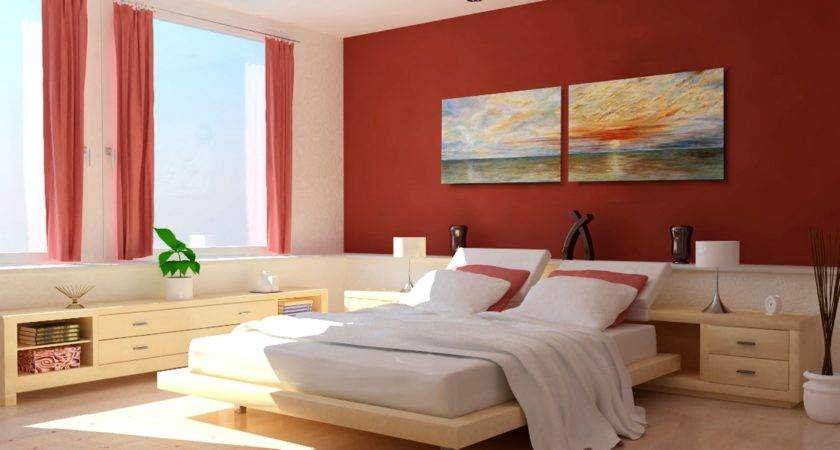 Warm Bedroom Color Design Ideas Modern Red White