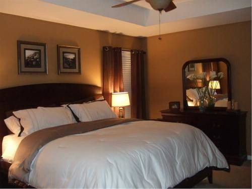 Warm Brown Simple Master Retreat Bedrooms Rate