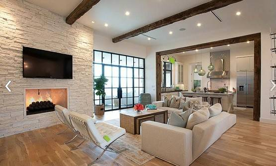 White Brick Wall Living Room Design Home Interiors