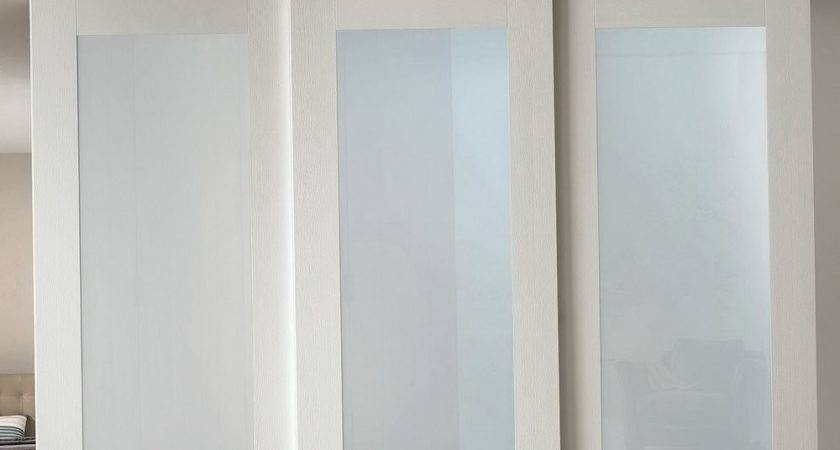 White Closet Doors Frosted Glass Home Design Ideas