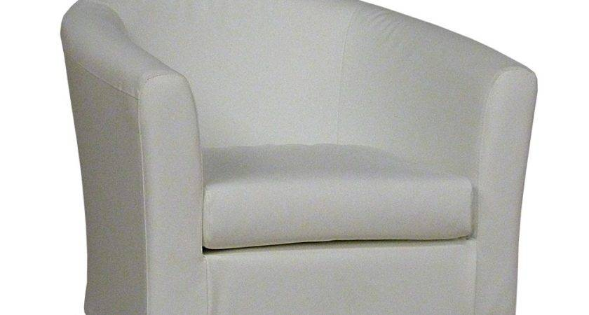 White Faux Leather Tub Chair Sloane Sons