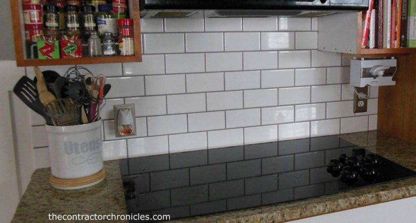 White Gray Grout Subway Tile Backsplash Rachael Edwards