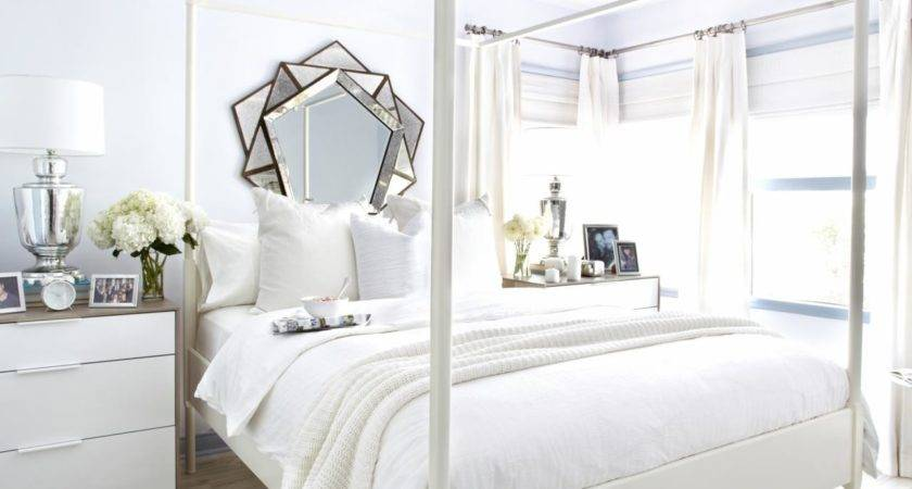 White Guest Bedroom Makeover Bedrooms
