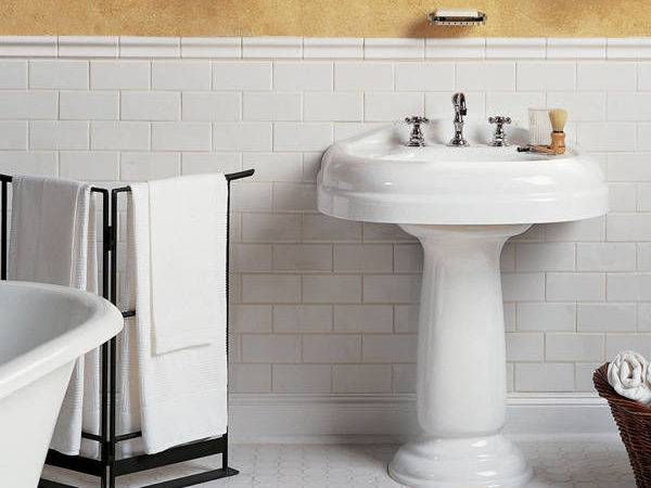 White Hexagon Bathroom Floor Tile Ideas