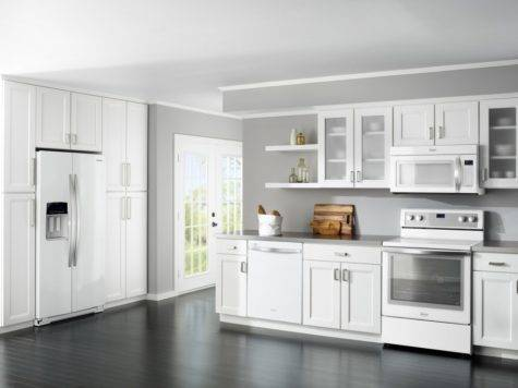 White Kitchen Cabinets Appliances Home