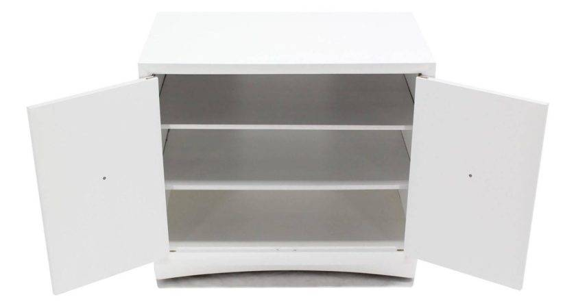 White Lacquer Gibbings Widdicomb Two Doors Cabinet
