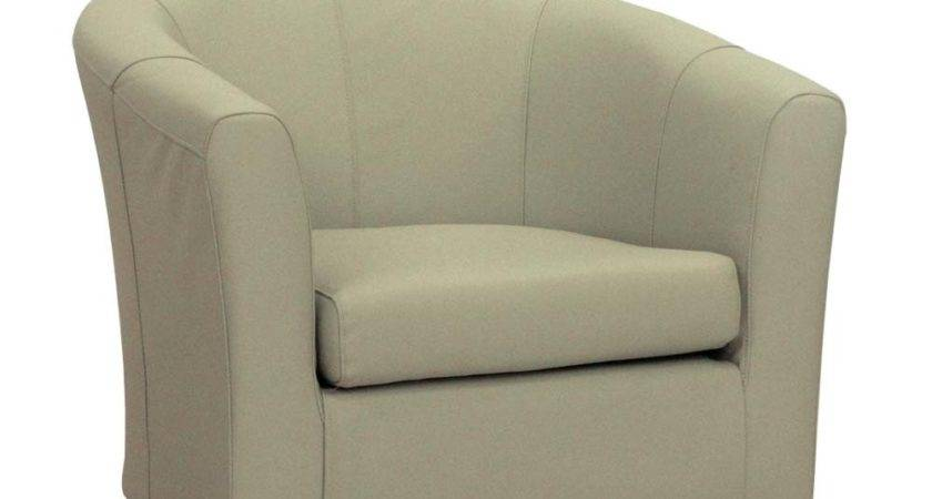 White Leather Tub Chair Real Chairs Living