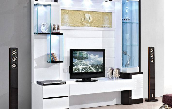 White Living Room Furniture Chinese Lcd Cabinet