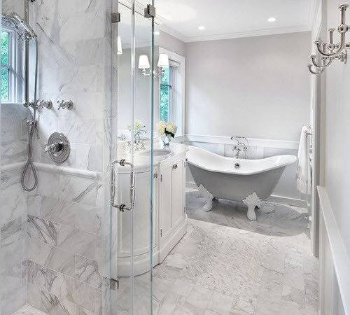 White Marble Bathroom Tile Ideas