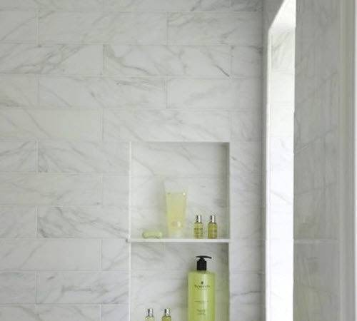 White Marble Bathroom Wall Tiles Ideas