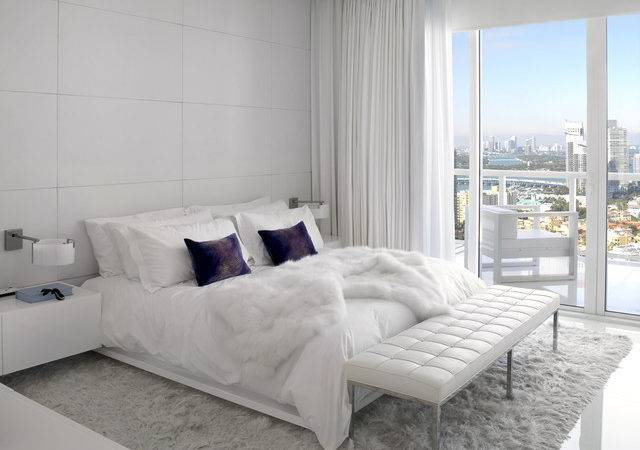 White Master Bedroom Contemporary