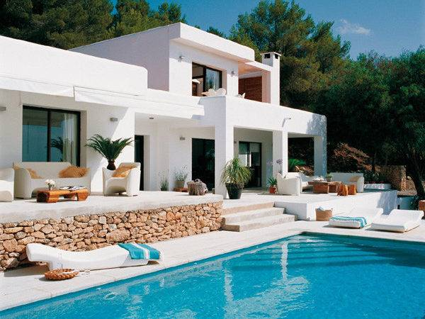 White Modern House Design Mykonos Island Greece