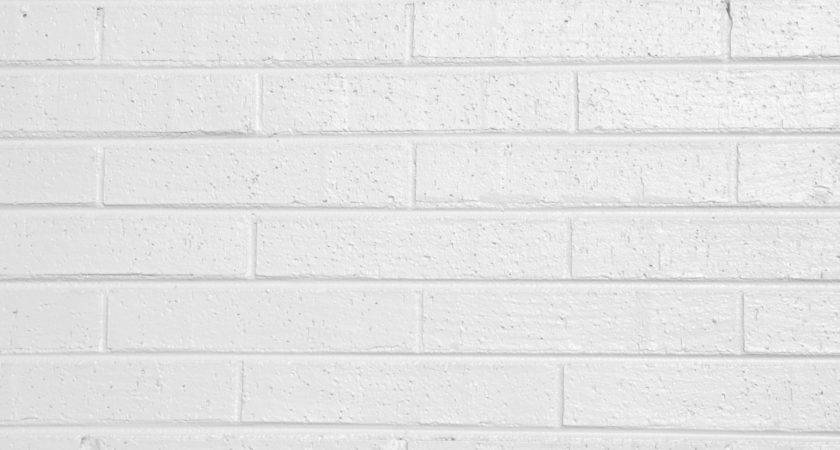 White Painted Brick Wall Texture Photograph