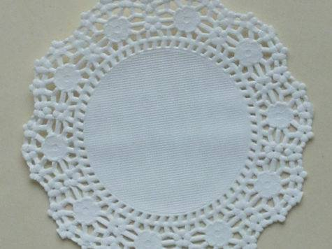 White Paper Doilies Modern Floral Lace Design Inch