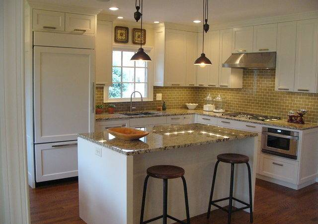 White Simple Kitchen Modern Charlotte