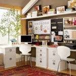 White Small Home Office Ideas Design Interior