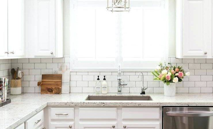White Subway Tile Backsplash Kitchen Large