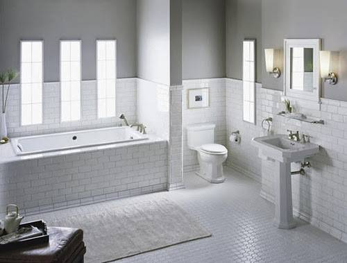 White Subway Tile Bathroom Ideas