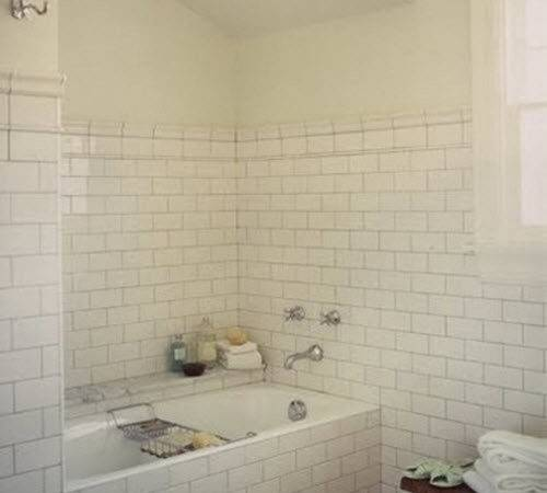White Subway Tile Tub Surround Ideas