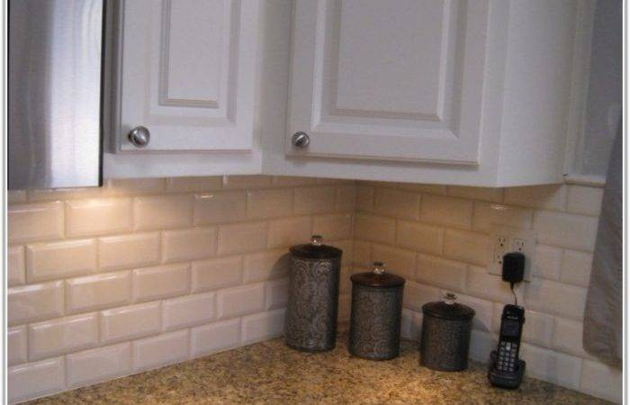 White Subway Tiles Kitchen Backsplash Home