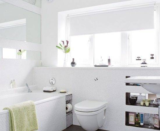 White Textured Bathroom Tiles