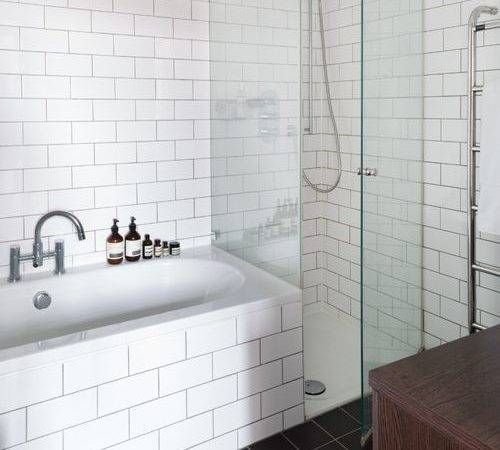 White Tile Bathroom Home Design Ideas Remodel