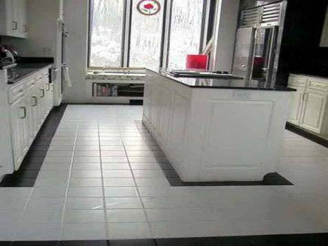 White Tile Kitchen Floor Ideas Home Interior Design