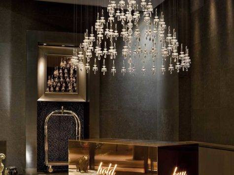 Windfall Contemporary Crystal Lighting Resort Style
