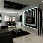 Wonderful Black White Contemporary Living Room Designs