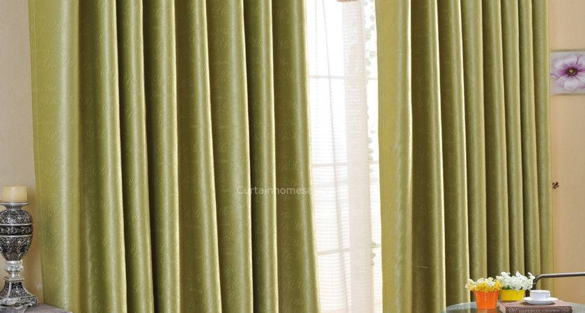 Wonderful Bud Green Suede Fabric Printing Hotel Style Curtains