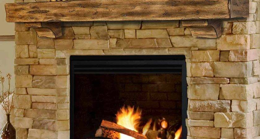 Wood Fireplace Mantel Shelves Design Ideas