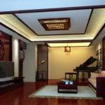 Wood Living Room Design Piano