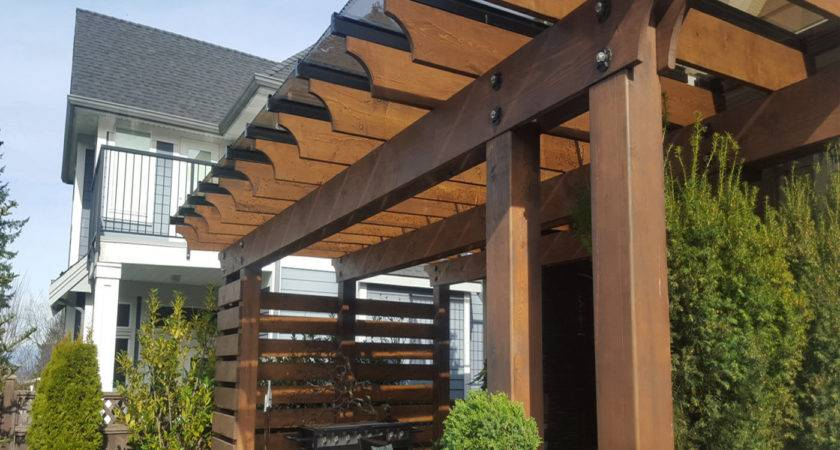 Wood Pergola Glass Seattle Canada Pabs