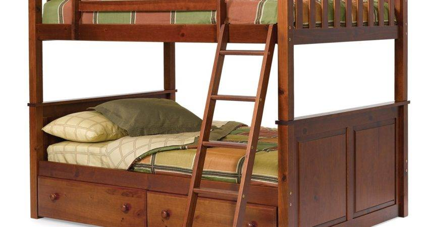 Woodcrest Pine Ridge Over Bunk Bed Chocolate