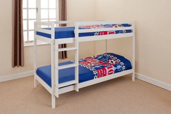 Wooden Bunk Bed Children Kids Shorty White