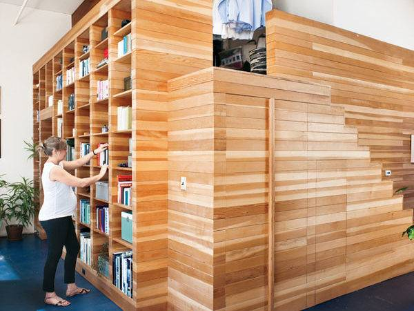 Wooden Cladded Bedroom Style Integrated Initial