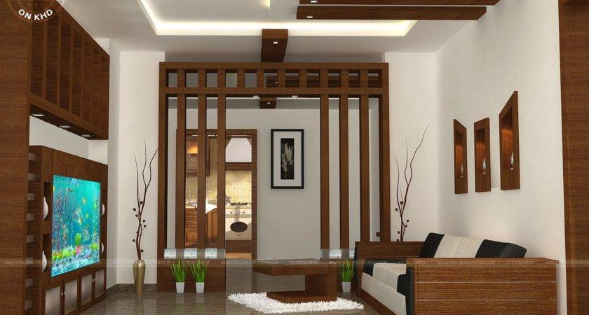 Wooden Finish Interiors Kerala Home Design Floor Plans