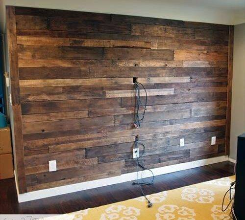 Wooden Pallets Wall Decoration Designs