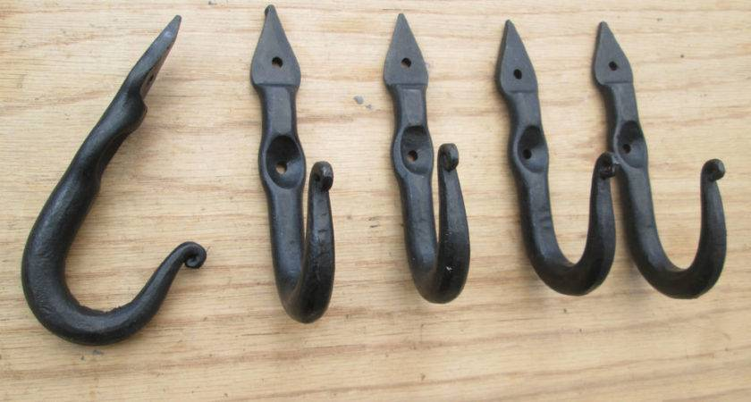 Wrought Iron Hand Forged Old Style Coat Hook Hanger