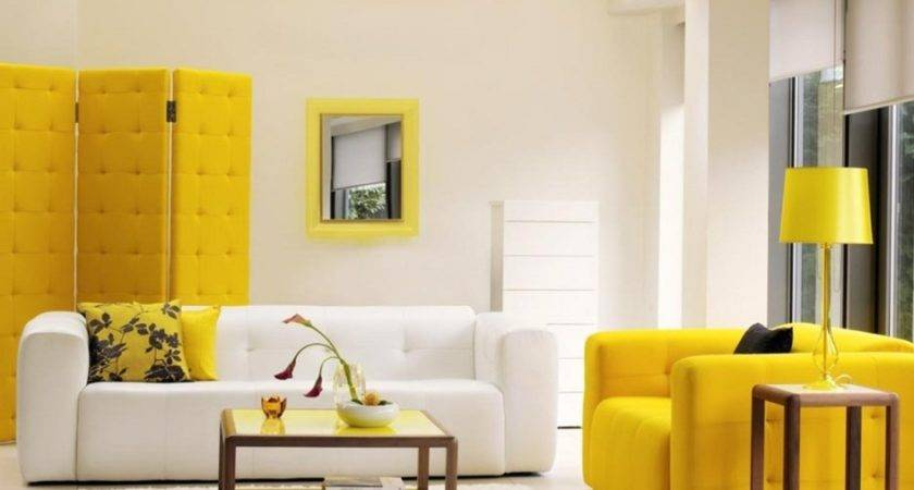 Yellow Color Furniture Ideas Sofa Living Room Become