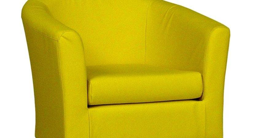 Yellow Faux Leather Tub Chair Sloane Sons