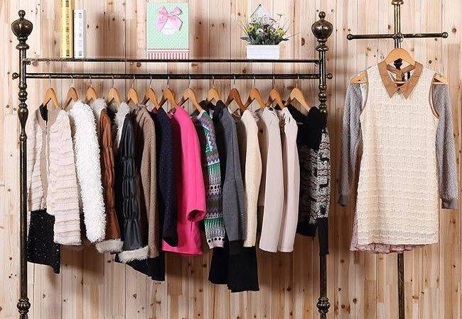 Young Wrought Iron Clothing Rack Store