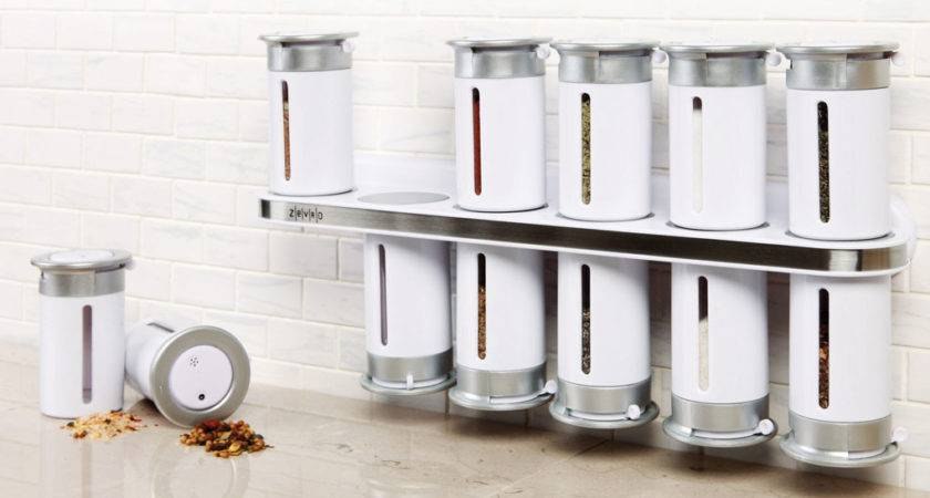 Zero Gravity Wall Mount Magnetic Spice Rack White
