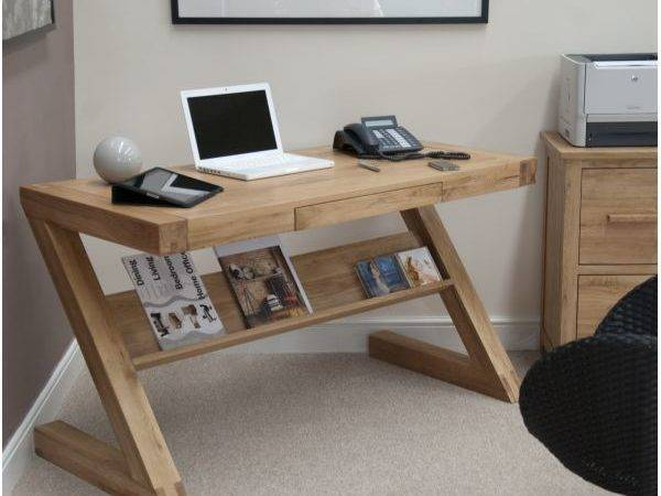 Zouk Solid Oak Designer Furniture Laptop Office